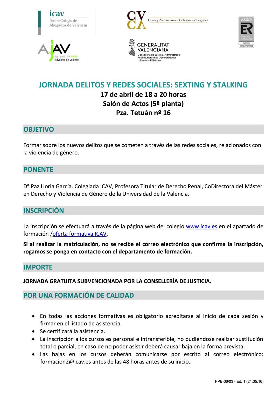 JORNADA DELITOS Y REDES SOCIALES- SEXTING Y STALKING copia