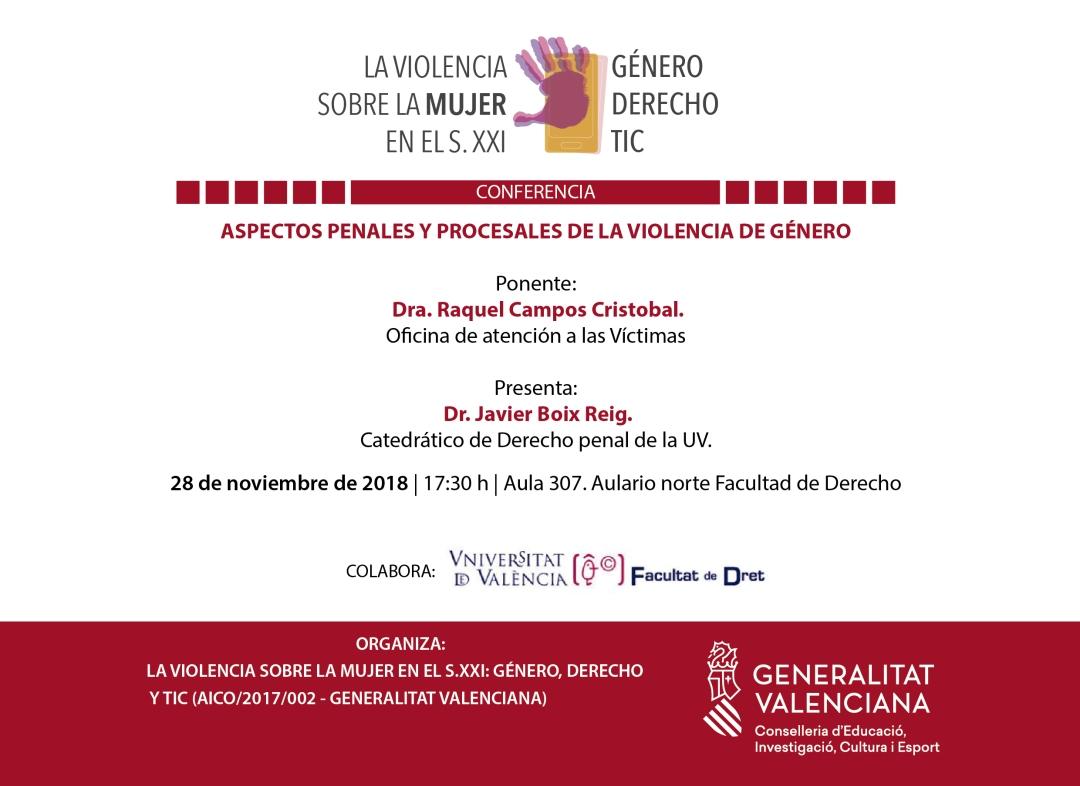 Violencia TIC cartel Conferencia 28-11-18